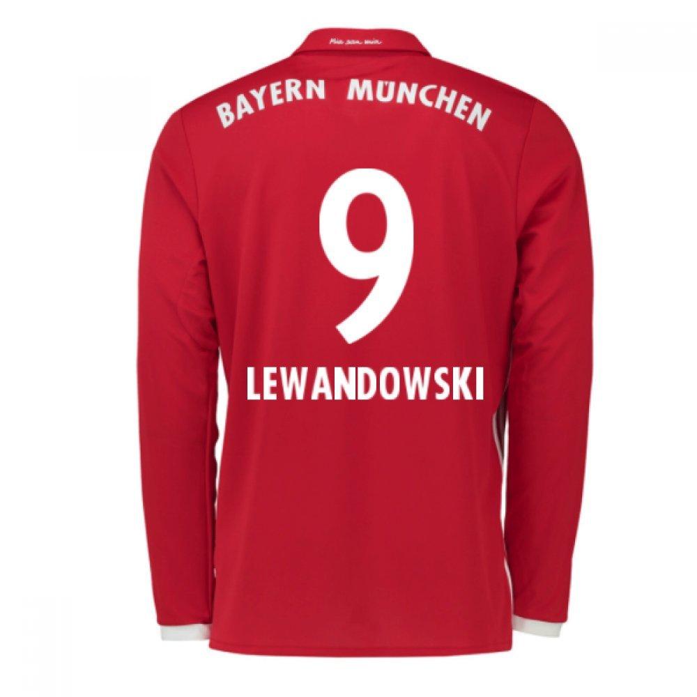 2016-17 Bayern Munich Long Sleeve Home Shirt (Lewandowski 9) B077WLVTMLRed Small 36-38\