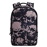 go pro 3 direction book - HANRUI Personalized 3D Skull Studded Casual Travel Laptop Backpack School Bookbags (Grey skull)