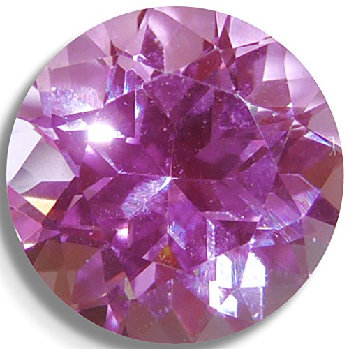 - Lab Sapphire Pink Round Brilliant Loose Unset Gem (6mm)