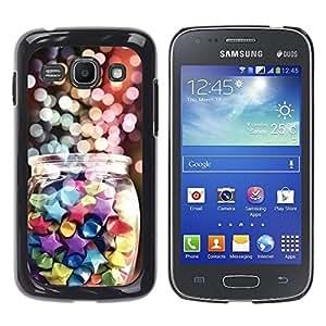 TopCaseStore / la caja del caucho duro de la cubierta de protección de la piel - Lights Christmas Night Candy Sweets - Samsung Galaxy Ace 3 GT-S7270 GT-S7275 GT-S7272