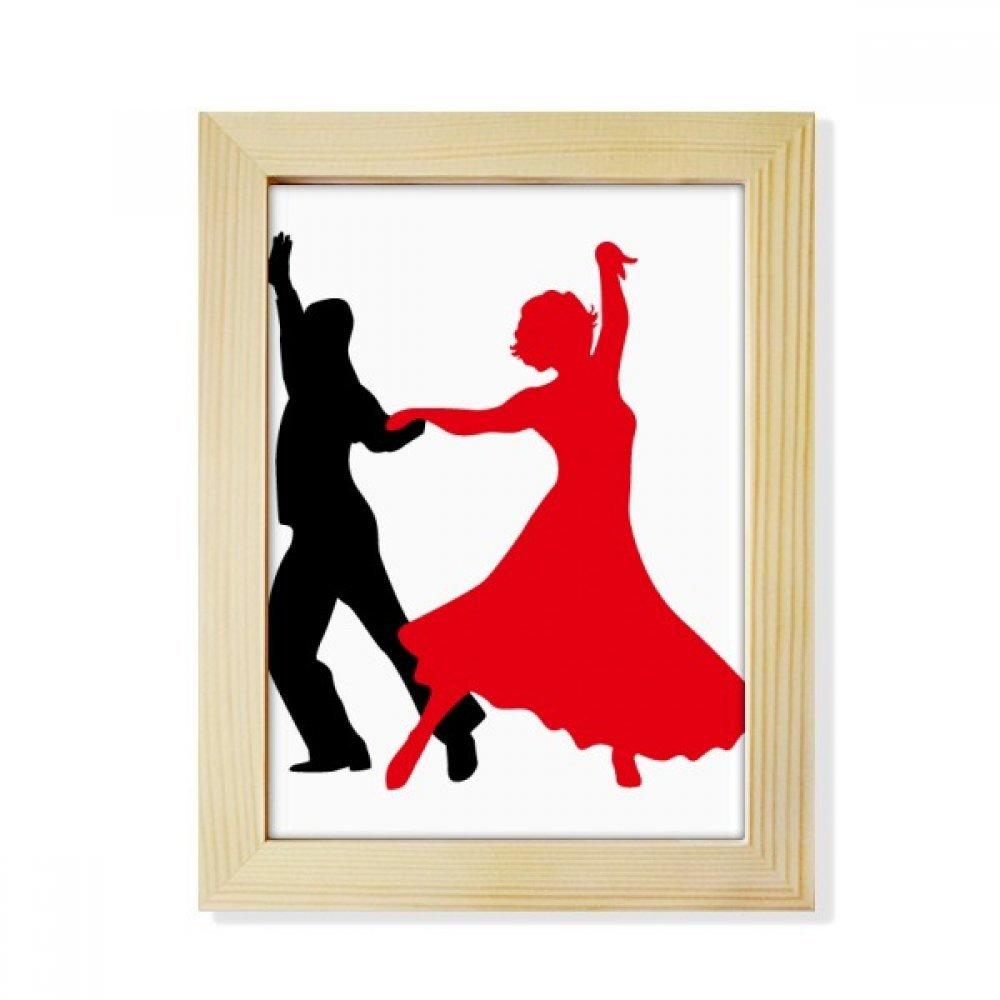 DIYthinker Duet Dance Social Dancing Dancer Desktop Wooden Photo Frame Picture Art Painting 6x8 inch