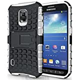 Galaxy S5 Active Case, Cocomii® [HEAVY DUTY] Grenade Case *NEW* [ULTRA TITAN ARMOR] Premium Shockproof Kickstand Bumper [MILITARY DEFENDER] Full-body Rugged Dual Layer Cover for Galaxy S5 Active (White) ★★★★★