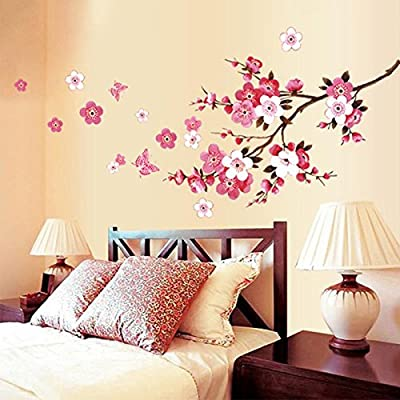 New Butterfly Cherry Blossom Flower Tree Branch Wall decals decor kids baby stickers