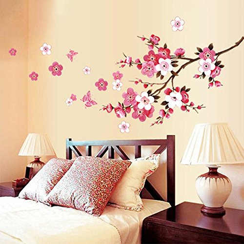 Compra ora! New Butterfly Cherry Blossom Flower Tree Branch Wall decals decor