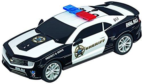 (Carrera GO 64031 Chevrolet Camarao ZL1 Sherrif Slot Car Racing Vehicle)