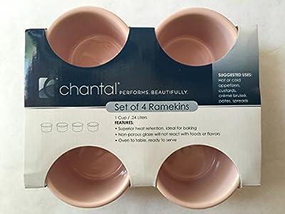 Chantal 1 Cup 8oz Set of 4 Ramekins, Pink