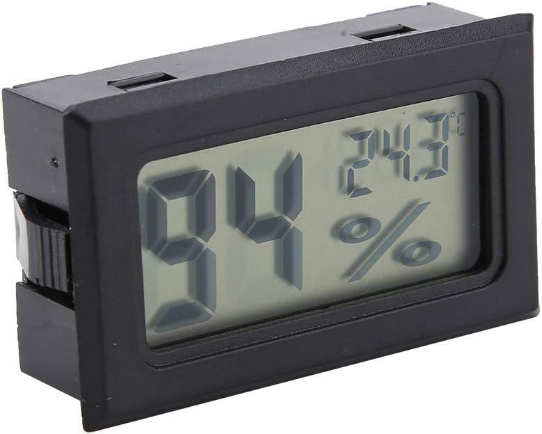 Termómetro de Alta precisión de tamaño pequeño Higrómetro Medidor de Humedad y Temperatura Termómetro Digital con sonda incorporada para jardín de Bodega