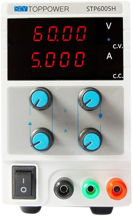 60V 5A Regelbar Labornetzgerät Labornetzteil DC Stabilisiert EU-Stecker Netzteil