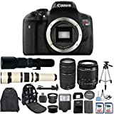Canon EOS Rebel T6i 24.2 MP Digital SLR Camera with Canon EF-S 18-55mm IS Lens + Canon 75-300mm Zoom Lens + 500mm Preset Telephoto Lens + 650-1300mm Zoom Lens + 2 pc Commander 32GB Memory Cards