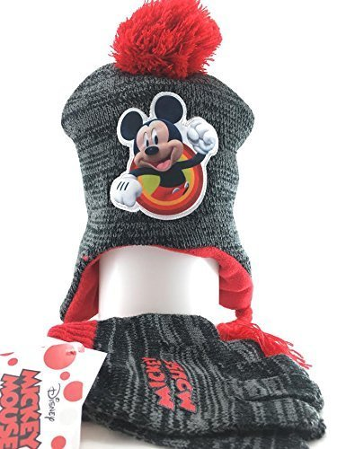 Nip Disney Mickey Mouse (Disney NIP Berkshire Big Boys' Mickey Mouse Beanie/ Glove Set (Laplander))