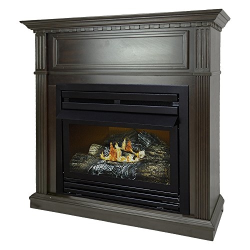 Cheap Pleasant Hearth 42 Intermediate Tobacco System Liquid Propane Vent Free Fireplace 27 500 BTU Black Friday & Cyber Monday 2019