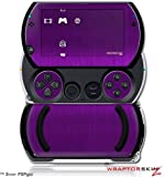 Brushed Metal Purple - Decal Style Skins (fits Sony PSPgo)
