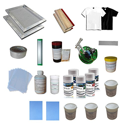 1 Color Silk Screen Printing Consumable Materials Kit - 006812 Low cost One Stop Shopping by Screen Printing Kit
