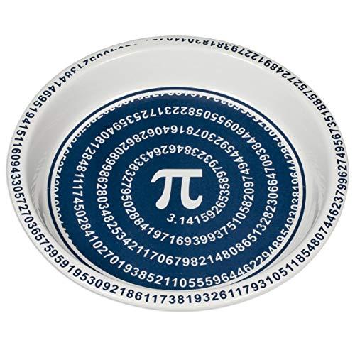 ComputerGear Pi Day Pie Plate Math Mathematical Symbol Ceramic Pan Dish - Pyrex Glass Spiral Design