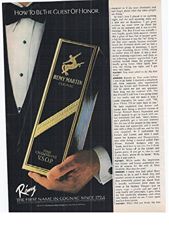 - 1982 Vintage Print Advertisement for Remy Martin Fine Champagne Vsop Cognac