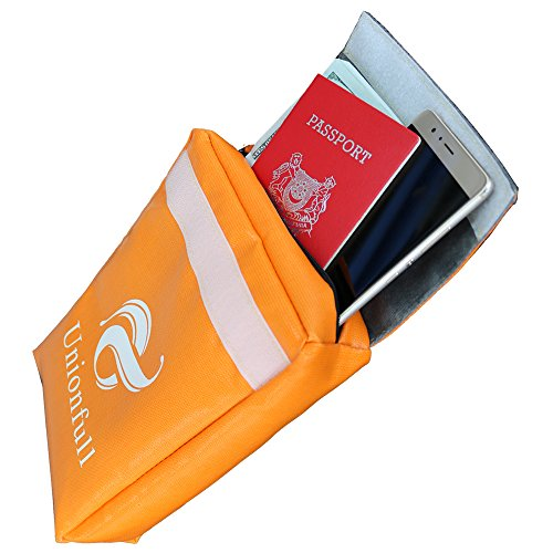 Unionfull Fireproof Document Bag 11''x7''x2'' NON-ITCHY, Zipper Closure, Fire Resistant Envelope Pouch by Unionfull