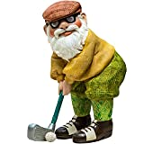 Twig & Flower The Great Golfing Gnome 9″ (The Perfect Gift) – Hand Painted Garden Gnome – Designed