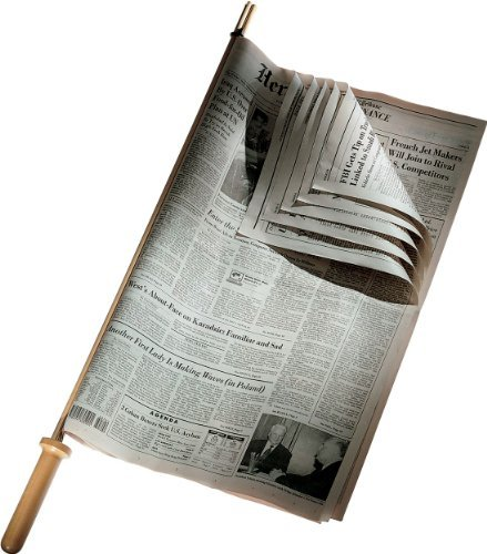 Alessi Cherry Wood Newspaper Holder by Alessi