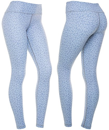 CompressionZ Women's Compression Pants (Fern Silver - M) Best Full Leggings Tights for Running, Yoga, Gym