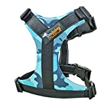 Soft Dog Harness No-Pull Pet Vest with Handle Reflective Lightweight Walking Harness Padded Vest Sports Soft Inner Padded Dog Pulling Harness, Camo Blue, Medium