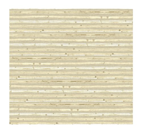 York Wallcoverings By The Sea AC6099 Woven Bamboo Wallpaper, Beige/Cream ()