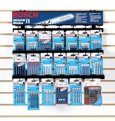 Bosch T5001R Bosch Shank Jigsaw Blade Wire Rack Merchandiser (20 Pcs) by Bosch