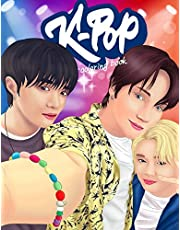 KPOP Coloring Book: A Collection Of Portraits And Dance Scenes Of The Kpop Idols.
