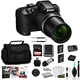 Nikon COOLPIX B600 Point & Shoot 60x Zoom Digital Camera Black 26528 Bundle with 64GB Memory Card + Editing Software + Spare Battery and More