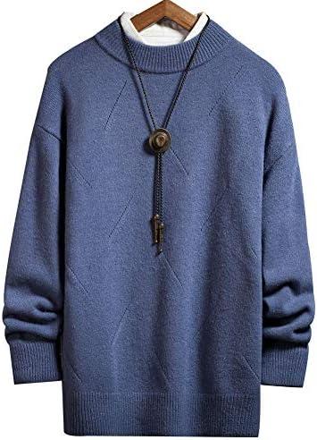 kelbon(ケボン) ニット セーター メンズ クルーネック(丸首)長袖 ビジネス カジュアル セーター 暖かい 大きいサイズ 無地 おしゃれ