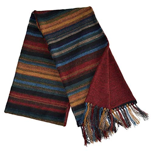 (Invisible World Women's 100% Alpaca Wool Scarf Long Knit Winter Fall Chiminea)
