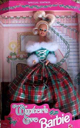 - Barbie WINTER'S EVE DOLL w Faux FUR Trim Gown SPECIAL EDITION (1994)