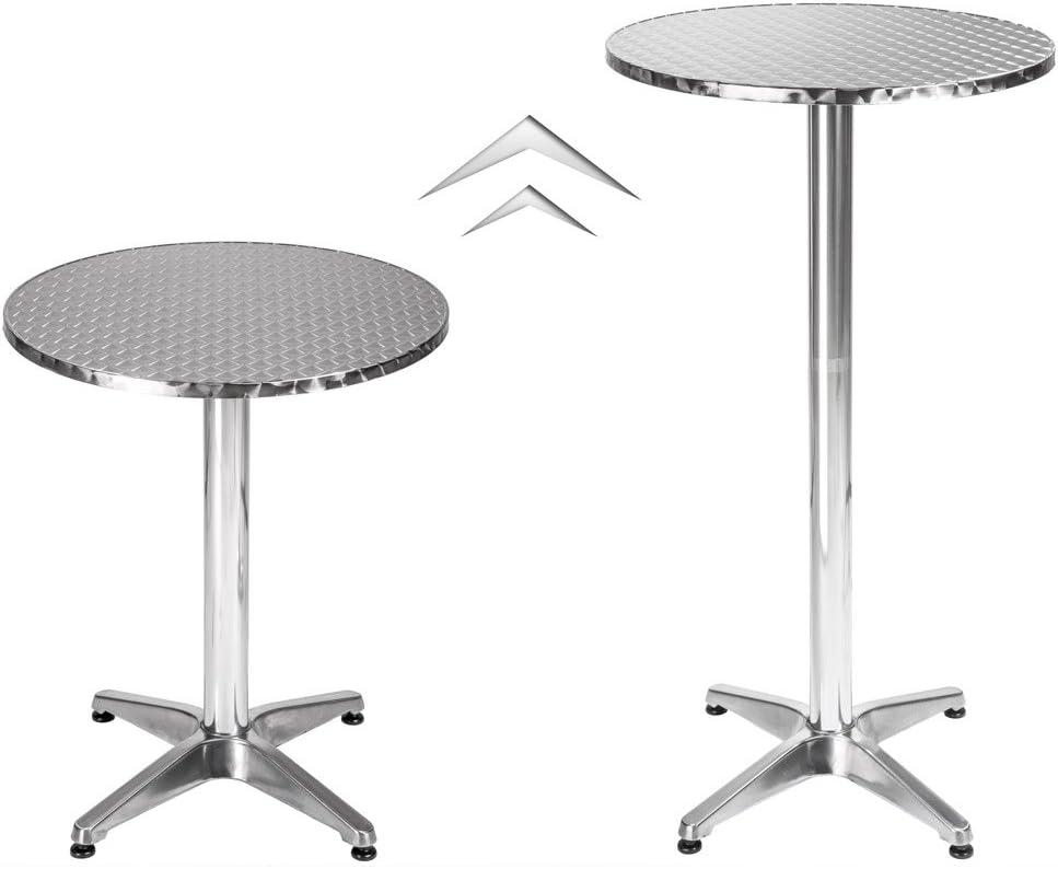 Deuba ® Alu table haute table de bistrot haute réglable en hauteur Table de jardin table