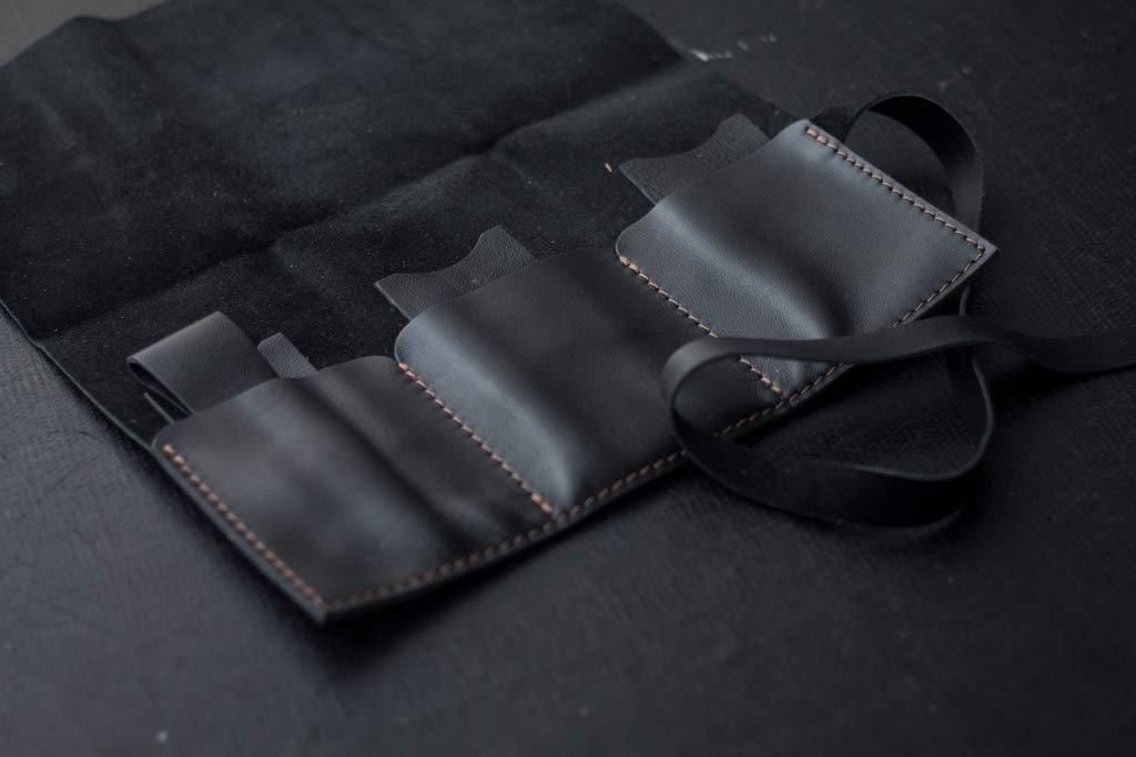 3b86e93634abb Amazon.com: Handmade Leather watch roll, Travel watch roll, Watch ...