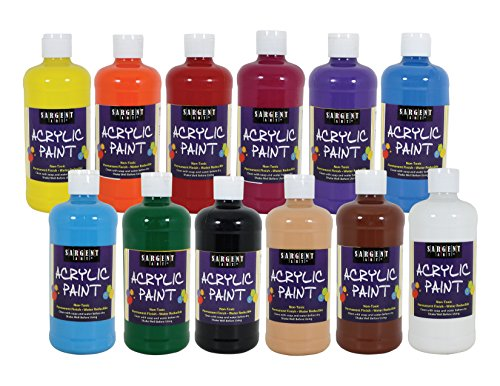 Sargent Art 24-2498, 12Count Artist Quality Acrylic Paint Set, 12