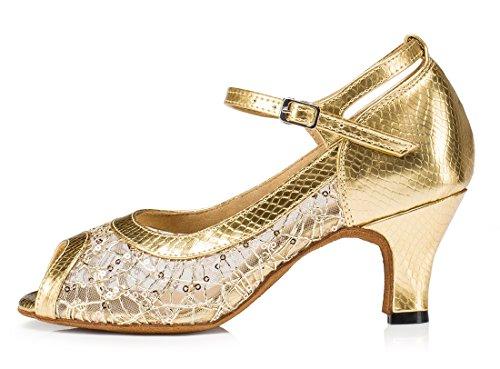 Moderno MGM Gold Appliques Heel Donna e Jazz 6cm Joymod qxFfAH