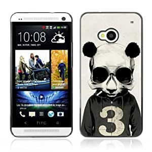 Designer Depo Hard Protection Case for HTC One M7 / Smoking Panda Hoodie