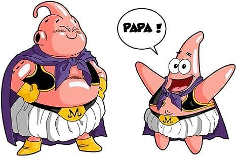 Parodie Dragon Ball Z - Bob l/éponge Tel p/ère, tel Fils ! Bob l/éponge parodique Majin BOU et Patrick : Papa !! T-Shirt Noir Dragon Ball Z