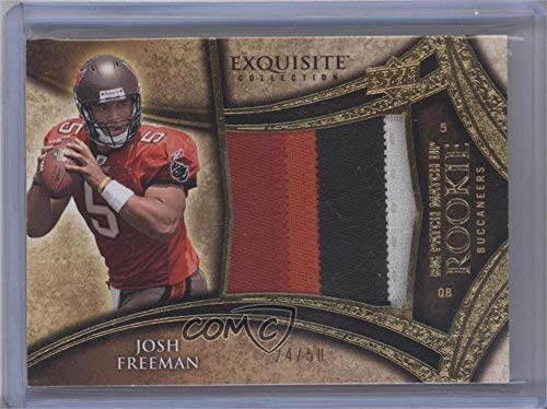 Nate Davis; Josh Freeman #24/50 (Football Card) 2009 Upper Deck Exquisite Collection - Big Patch Match Up Rookies #NDJF