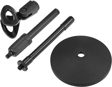 300 mm Schwanenhals Pulse PLS00077 Mikrofonst/änder Schwarz