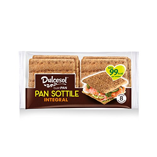 DULCESOL 🍞😋🌾 Pan Sottile Integral - 8 unidades 🍞😋🌾: Amazon.es ...