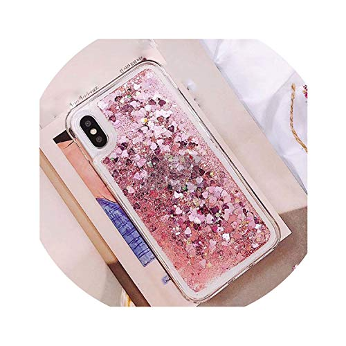 Phone Case Bling Sequins,Pink,for iPhone XR]()