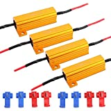 JAVR - Pack of 4-6ohm 50W Load Resistor Canbus Anti-Flashing Decoders For LED bulb