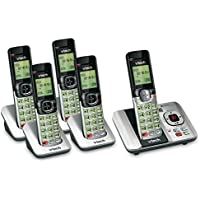 VTech 5 Handset DECT 6.0 Cordless Phone Bundle with (1) CS6529-4 Phone System & (1) CS6509 Handset
