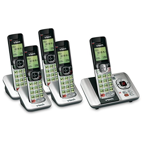 VTech 5 Handset DECT 6.0 Cordless Phone Bundle with (1) CS6529-4 Phone System & (1) CS6509 Handset Dect 6.0 Cordless Phone Systems