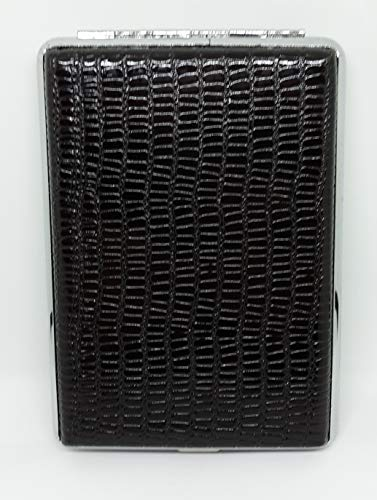 Nulite Black Snake Design Double Sided PU Leather 120s Cigarette Case