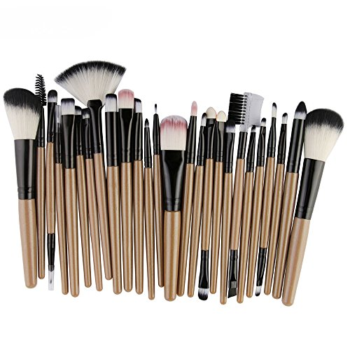 FORUU Make up Brushes, 2019 Valentine's Day Surprise Best Gift For Girlfriend Lover Wife Party Under 5 Free delivery 25pcs Cosmetic Makeup Brush Blusher Eye Shadow Brushes Set Kit (Best Budget Makeup Brushes 2019)