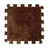 Baby Puzzle Mat Vibola Soft Patchwork Carpet Splice Baby Mat 1PCS (Coffee)