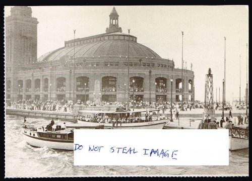 Municipal Pier (Later Navy Pier) Viewed From Lake Michigan 1916 Chicago - Chicago Michigan St