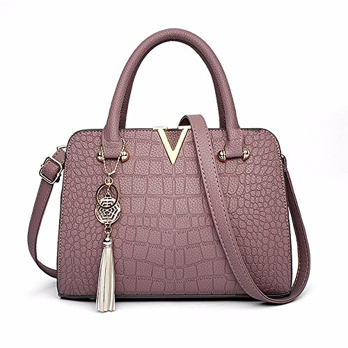 de Crossbody Bolso Mano Bag CCZUIML púrpura Simple de Negro para Mano Bolso Mujer wEnS6dqIW
