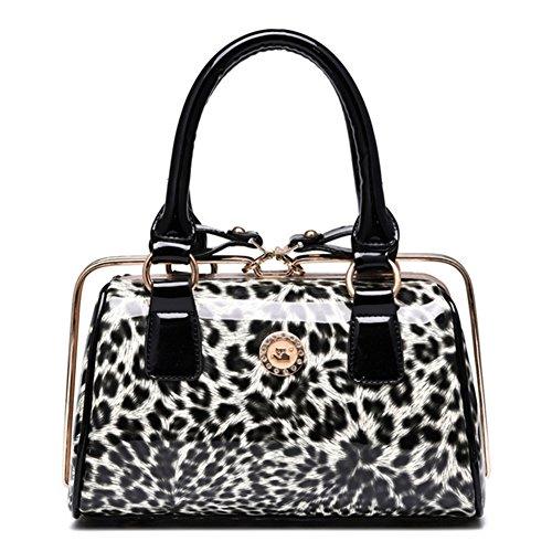Yuntun New Women Handbag European And American Fashion Leopard Bag Pu Leather Shoulder Package(leopard+)